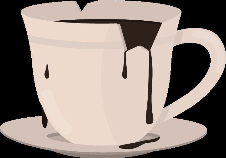 xícara com café transbordando como exemplo de Buffer Overflow